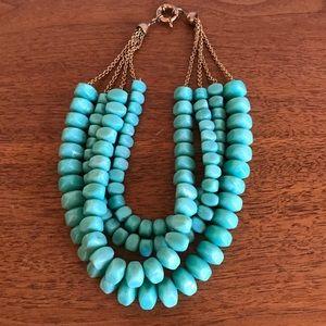Turquoise necklace Banana Republic